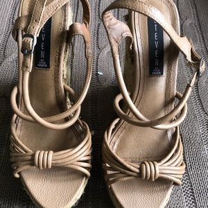 Steve Madden | Woven Leather Wedge Heels